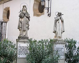 John of the Cross - Statues representing John of the Cross and Teresa of Ávila in Beas de Segura
