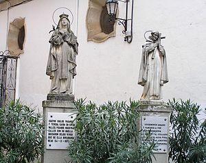 John of the Cross - Statues representing John of the Cross and Teresa of Ávila in Beas de Segura