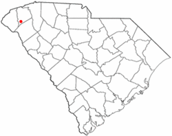 Location of Central, South Carolina