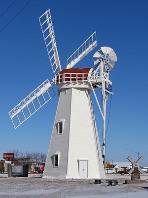 Milbank, South Dakota - Holland Grist Windmill, Milbank