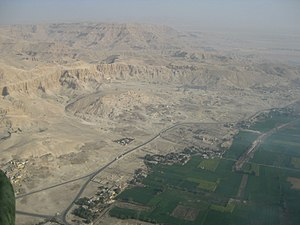 Theban Necropolis - Aerial view of the Theban Necropolis