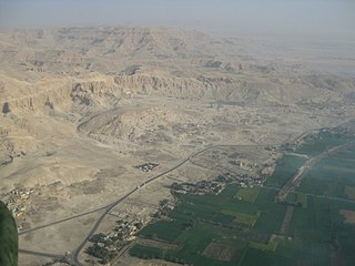 Theban Necropolis Area in Egypt, west of the Nile near Thebes