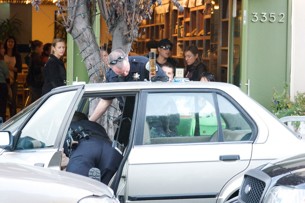 SF Police search the car