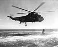 SH-3A Sea King of HS-6 practices Mercury space capsule recovery 1963.jpg