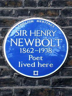 Sir henry newbolt 1862 1938 poet lived here