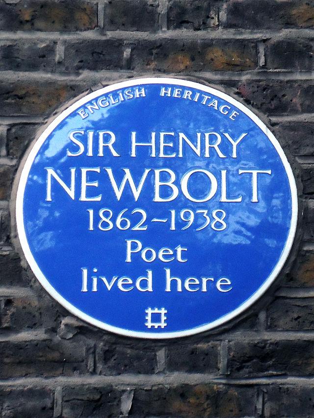 Henry Newbolt blue plaque - Sir Henry Newbolt 1862-1938 poet lived here