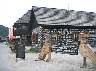 Čičmany - Folk architecture in Čičmany