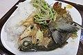 SZ 深圳 Shenzhen 羅湖 Luohu 水庫新村 Shuiku Xincun shop 潤發緣 restaurant food fish plate rice June 2017 IX1 01.jpg