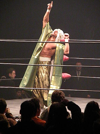 Sabu (wrestler) - Sabu performing his signature taunt in 2009