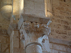 Simplified Corinthian capital at the Cistercian monastery at Sacramenia, province of Segovia, 12th-13th century