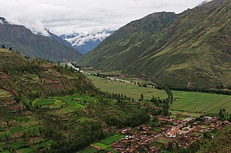 Urubamba River - The Vilcanota River in the Sacred Valley near Taray