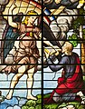 Saint-Chapelle de Vincennes - Baie 3 - L'apparition de l'ange à saint Jean, détail de l'ange et de saint Jean (bgw17 0815).jpg