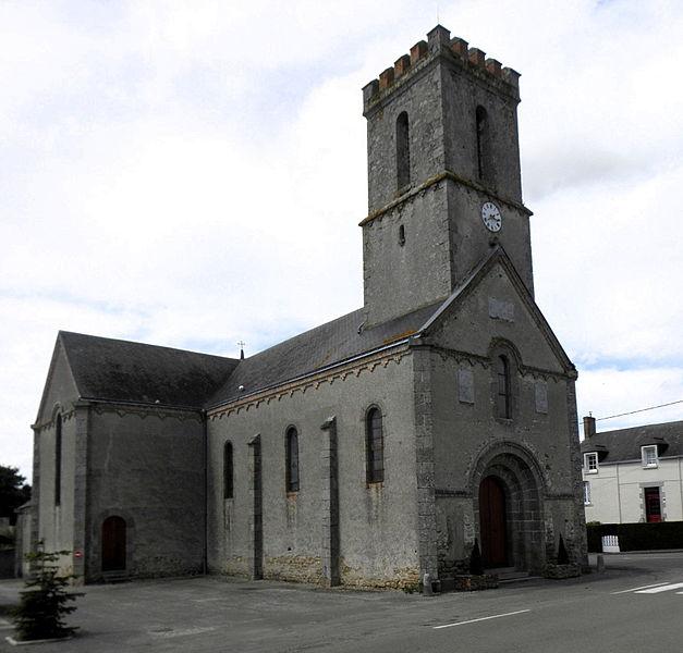 Nouvelle église de Saint-Ouen-des-Vallons (53).