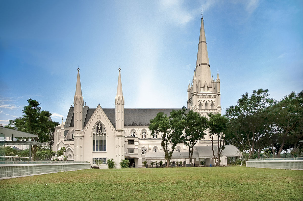 picture regarding St Andrew Novena Printable titled St Andrews Cathedral, Singapore - Wikipedia