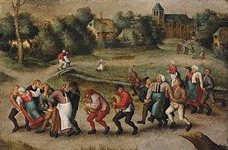 Sint-Jans-Molenbeek - Saint John's Dancers in Molenbeeck (1592) by Pieter Brueghel II