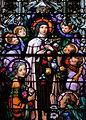 Saint Mary of the Assumption Church (Columbus, Ohio) - stained glass, Saint Thérèse of Lisieux, detail.jpg