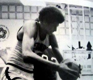 Sam Bowie - Bowie playing for the Lebanon High School varsity basketball team in 1977–78