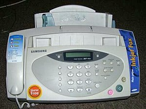 Fax - A fax machine from the late 1990s