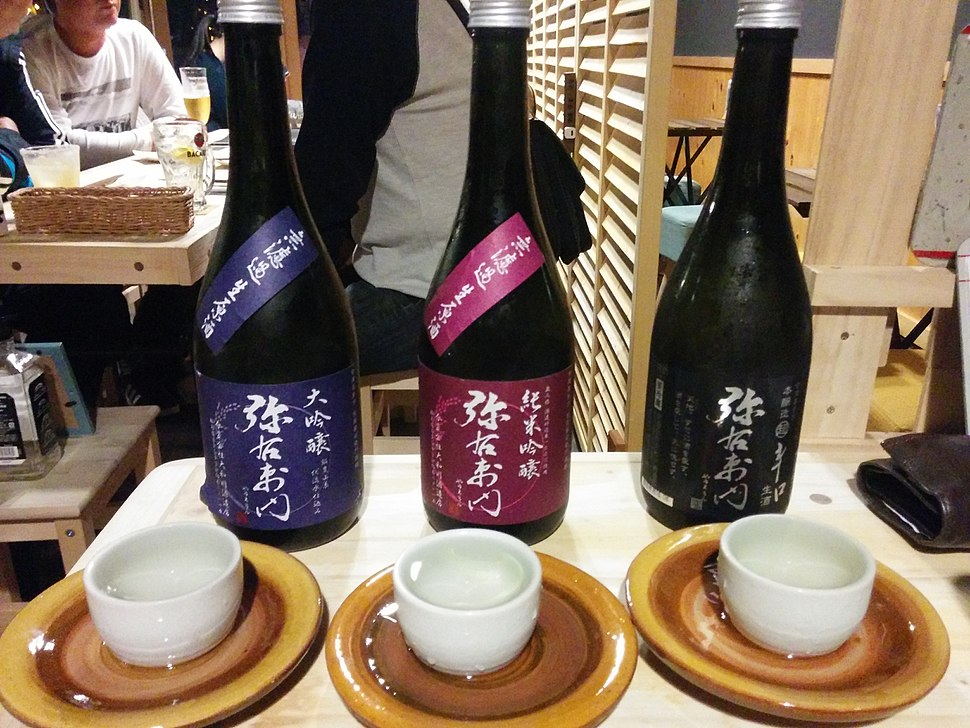 Sampling Aizu sake