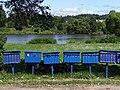 San River Scene with Postboxes - Huzele - Near Lesko - Poland (36048529160).jpg