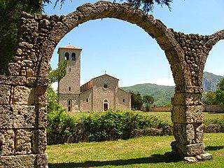 San Vincenzo al Volturno building in Castel San Vincenzo, Italy