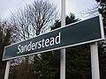 Sanderstead station signage.JPG