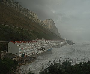 English: Sandy Bay in the storm
