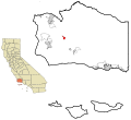 Santa Barbara County California Incorporated and Unincorporated areas Los Alamos Highlighted.svg