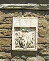 Santa croce, loggiato sud, esterno stemma rigogli di prato.JPG