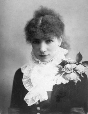 Bernhardt, in a portrait, 1890s.