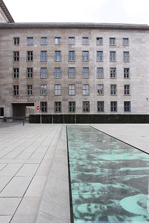 Uprising of 1953 in East Germany - Former building of the Reichsluftfahrtministerium (Reich Air Ministry) which then was the site of the House of Ministries.  This is the site of the most important memorial to  the 1953 Uprising