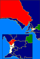 Results of the 2006 South Australian state election showing state electoral districts