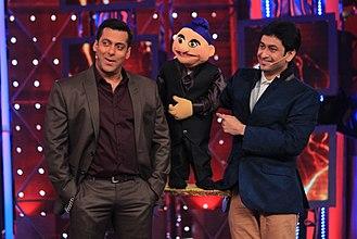 Satyajit Padhye - Satyajit Padhye with Salman Khan on Bigg Boss Season 8