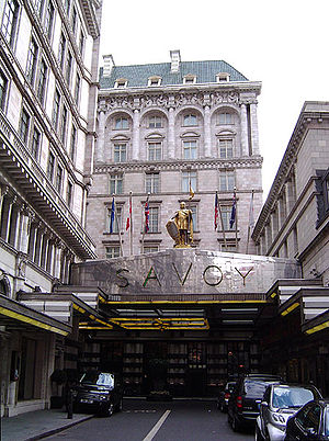 The Savoy Hotel, London.