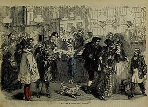 "John Cassell - Scene in a London Gin Palace (engraving from the ""Working Man's friend and family instructor"", 25 Oct 1851)"