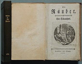 File:Schiller Die Räuber 1781.jpg (Quelle: Wikimedia)