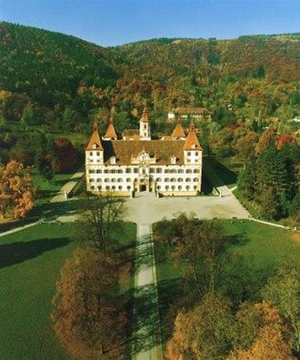 Eggenberg Palace, Graz - Aerial view looking northwest