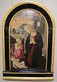 Scuola fiorentina del XV secolo (forse Bernardo di Stefano Rosselli), adorazione del bambino.JPG
