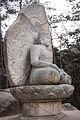 Seated stone statue of Buddha at Samneung-gye Namsan in Gyeongju, Korea 01.jpg