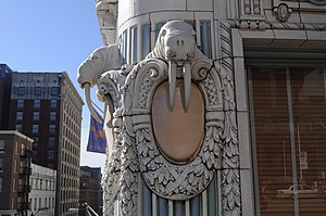 City of Seattle Landmarks Preservation Board - Image: Seattle Arctic Building walrus 03