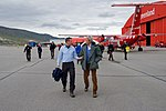 Secretary Kerry Walks With Danish Foreign Minister Jensen After Arriving in Kangerlussuaq, Greenland (27766679596).jpg
