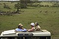 Secretary of State Henry Kissinger, Senator Jacob Javits, and Senator Abraham Ribicoff Viewing Wildlife at the Masai Mara Game Reserve in Kenya, Africa - NARA - 30805947.jpg