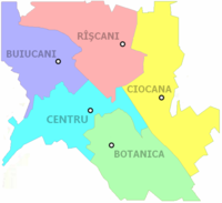 Administrative sectors of Chişinău