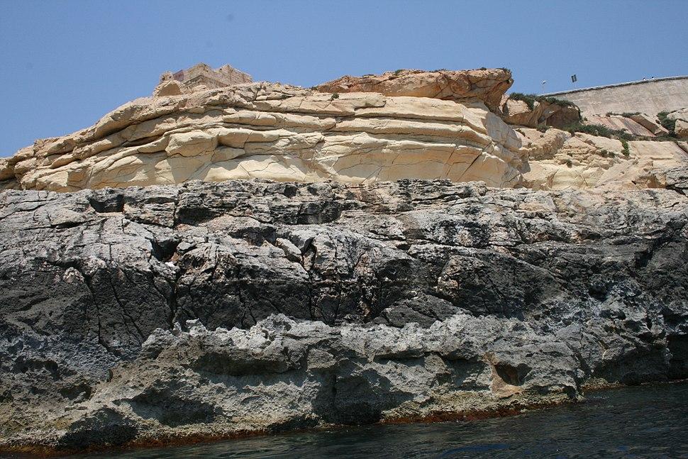 Sedimentgesteine auf Malta