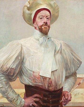 Self-portrait in White Dress - Jacek Malczewski.jpg