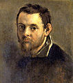 Self-portrait on an Easel in a Workshop by Annibale Carracci (detail).jpg