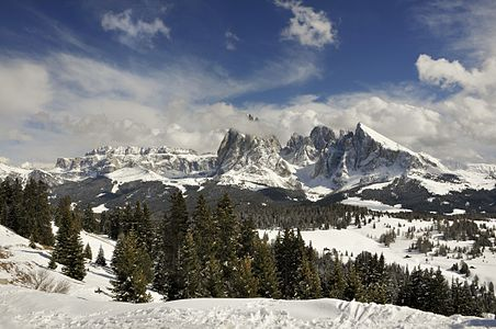 The Sella and Saslong group in the Dolomites