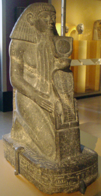 Senenmut - Statue of a Kneeling Senenmut from the Brooklyn Museum