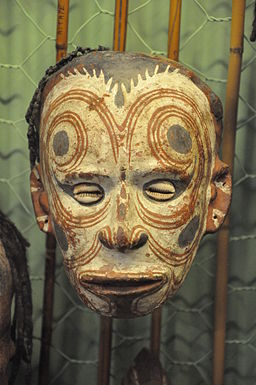 Sepik river decorated human skull (11)