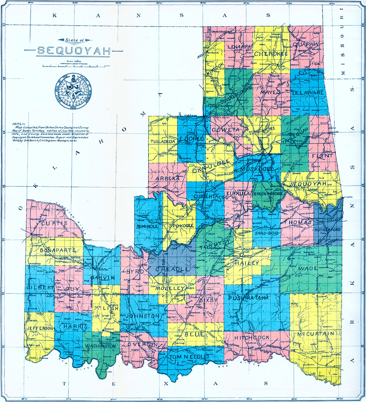 State of Sequoyah - Wikipedia on usa states map, hungary states map, red states map, un states map, so states map, union states map, best states map, hot states map, german states map,